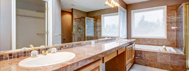 >Marble and Granite Bathroom
